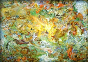 The Fifth Day of Creation by Mahmoud Farshchian (1990)