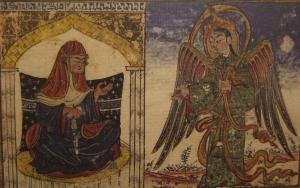 Annunciation in Al-Biruni's al-Athar al-Baqiya  (Ilkhanid 707/1307)