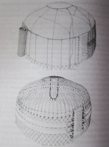 Structure of a trellis tent of the Yomut Turkmen of Iran. (Courtesy Durand-Guedy, 2013.)